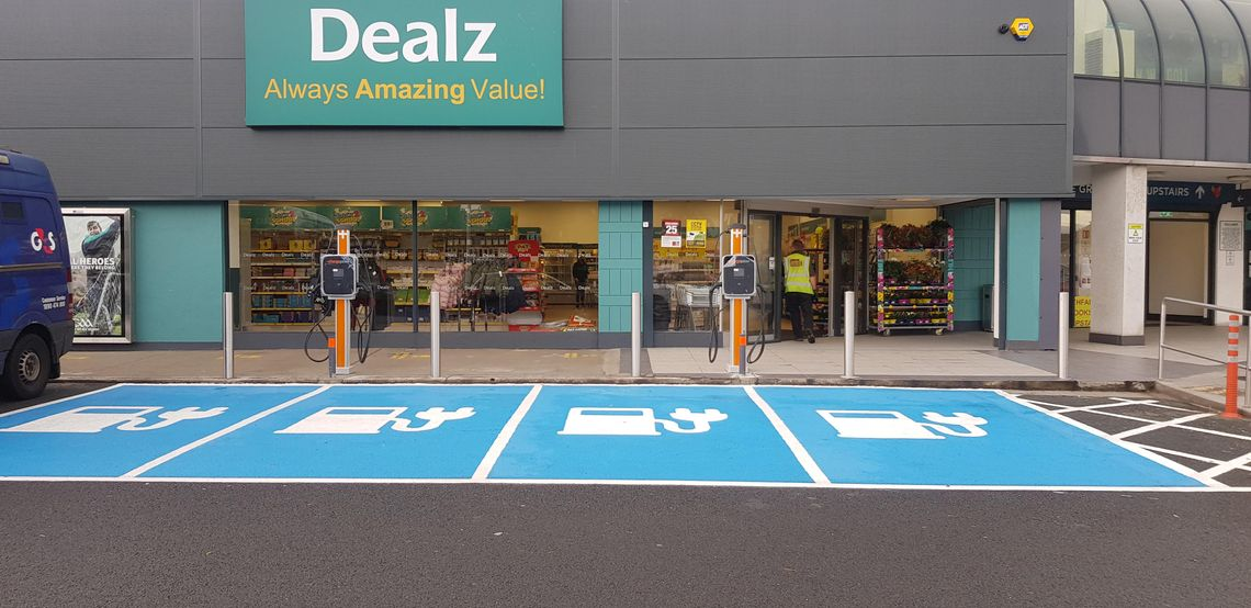 Electric Vehicle Charging Points Outside Dealz